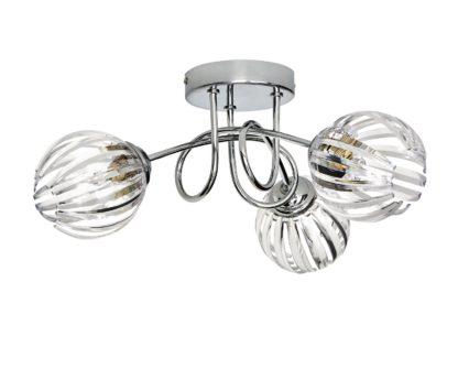 An Image of Argos Home Alana 3 Light Ceiling Light - Chrome