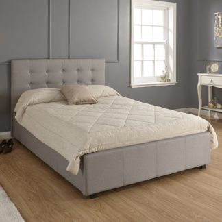An Image of Regal Ottoman Grey Bed Frame Grey