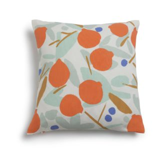 An Image of Habitat Pomegranate Patterned Cushion - Multicoloured