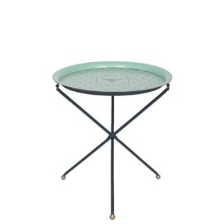 An Image of Honeycomb Foldable Tray Table Blue Gold and Black