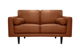 An Image of Habitat Jackson 2 Seater Leather Sofa - Tan