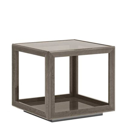An Image of Tigbourne Square Lamp Table Silver Birch