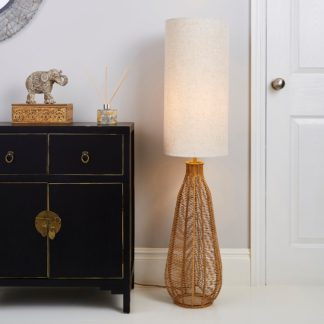 An Image of Kylo Woven String Floor Lamp Beige