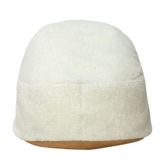 An Image of Argos Home Faux Fur Bean Bag - Chocolate