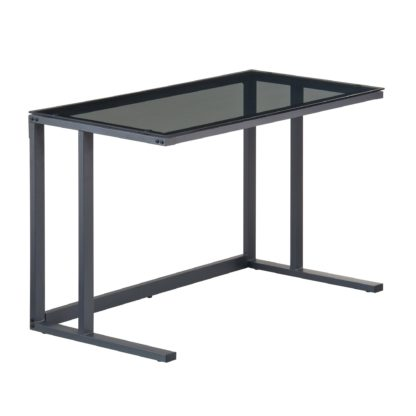 An Image of Air Smoked Glass Desk Clear