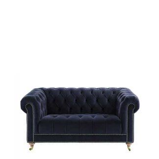 An Image of Ullswater Velvet 2 Seater Chesterfield Sofa