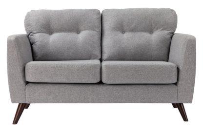 An Image of Habitat Hayle 2 Seater Fabric Sofa - Grey