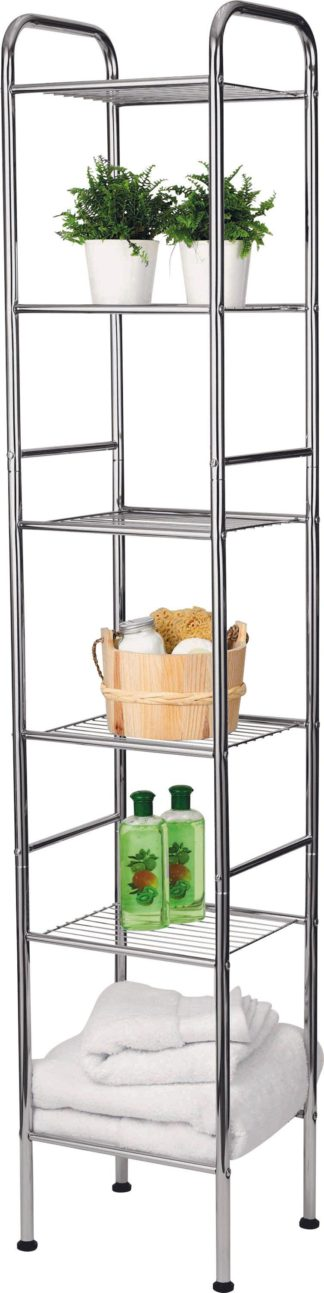 An Image of Argos Home 6 Tier Wire Shelf Unit