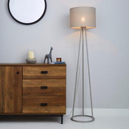 An Image of Sara Grey Floor Lamp Grey