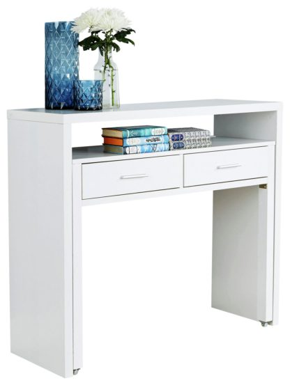 An Image of Regis 2 Drawer Console Desk - White