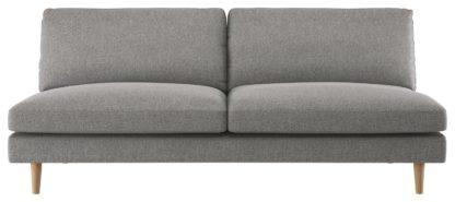 An Image of Habitat Teo 3 Seater Sofa - Grey