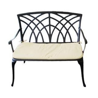 An Image of Cast Aluminium 2 Seater Bronze Bench Bronze