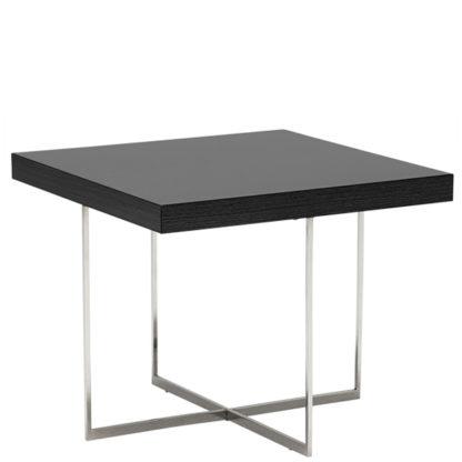 An Image of Borgia Lamp Table Grey Highgloss