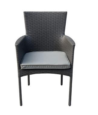 An Image of Argos Home Havana Metal Stacking Chair - Grey