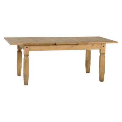 An Image of Corona Pine Extending Dining Table Brown