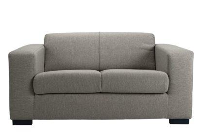 An Image of Habitat Ava Compact 2 Seater Fabric Sofa - Light Grey