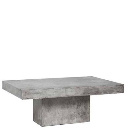 An Image of Geradis Lista Coffee Table Concrete