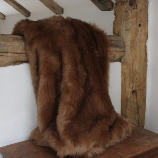 An Image of Faux Fur Throw Camel