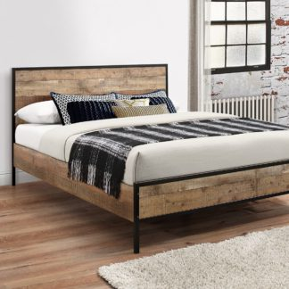 An Image of Urban Rustic Bed Frame Brown