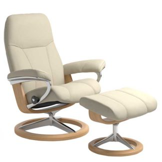 An Image of Stressless Consul Signature Chair Stool Batick