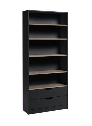 An Image of Habitat Compton 5 Shelf Bookcase - Two Tone