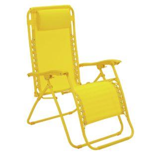 An Image of Argos Home Zero Gravity Sun Lounger - Yellow