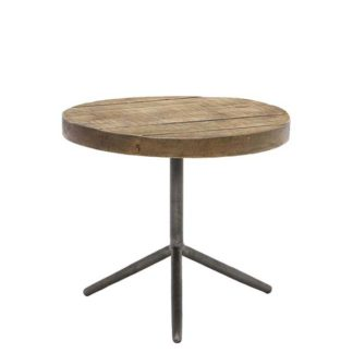 An Image of Keeler Benny Reclaimed Large Side Table Rusic Grey