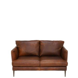 An Image of New Acacia Leather Loveseat