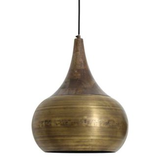 An Image of Large Bronze Pendant Wooden Top