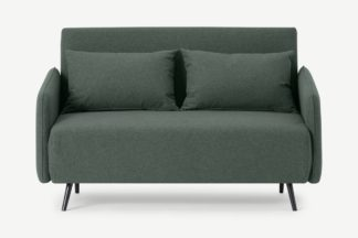 An Image of Hettie Small Sofa Bed, Woodland Green