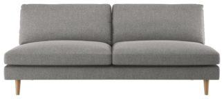 An Image of Habitat Teo 3 Seater Fabric Sofa - Charcoal