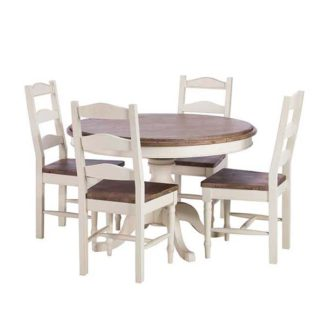 An Image of Carisbrooke Round Dining Table 4 Chairs