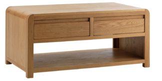 An Image of Habitat Novara 2 Drawer Coffee Table - Oak Veneer