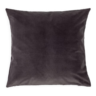 An Image of Heal's Velvet Cushion Clay Grey 45 x 45cm