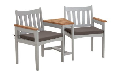 An Image of Argos Home Wooden Duo Love Seat