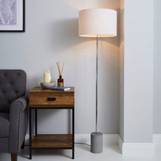 An Image of Kya Concrete Base Floor Lamp Grey