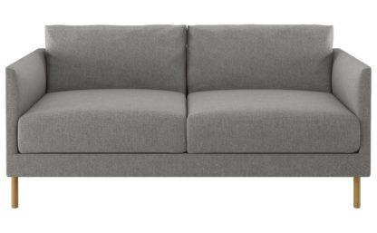An Image of Habitat Hyde 2 Seater Fabric Sofa - Grey