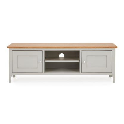 An Image of Freya Wide TV Stand Grey and Brown