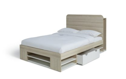 An Image of Habitat Pico Double Ultimate Storage Bed Frame - Two Tone
