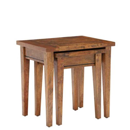 An Image of New Frontier Mango Wood Nest of Tables