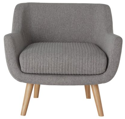 An Image of Habitat Nellie Fabric Accent Chair - Grey