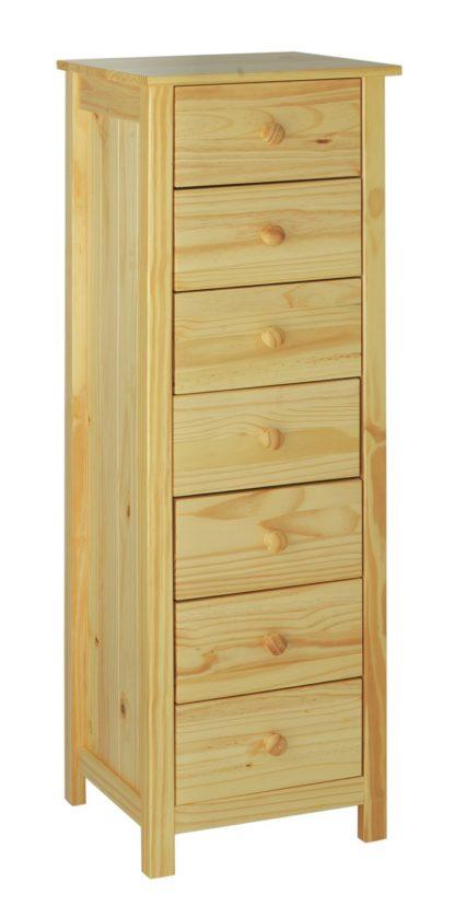 An Image of Habitat Scandinavia 7 Drawer Tallboy - Pine