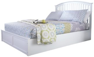 An Image of GFW Madrid Ottoman Kingsize Bed Frame - White