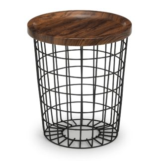 An Image of Smithson Storage Lamp Table Black