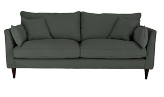 An Image of Habitat Hector 3 Seater Fabric Sofa - Charcoal Linen