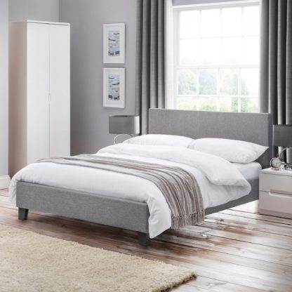 An Image of Rialto Fabric Bed Frame Grey
