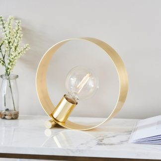 An Image of Circ Table Lamp Brass
