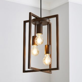 An Image of London 3 Light Bronze Industrial Pendant fitting Brown