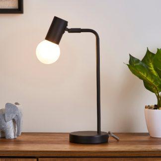 An Image of Bradford Desk Lamp Matt Black Matt Black