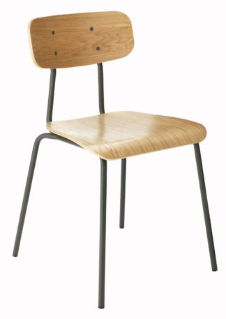An Image of Habitat Hester Stackable Dining Chair - Charcoal